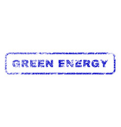 green energy rubber stamp vector image