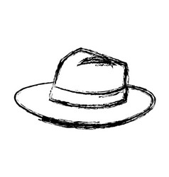 Hat for men elegance with ribbon accessory icon vector