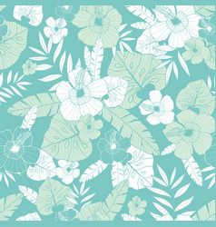 Light green and blue tropical summer vector