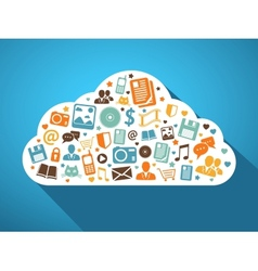 Multimedia and mobile apps in the cloud vector image vector image