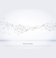 polygonal abstract network wireframe background vector image