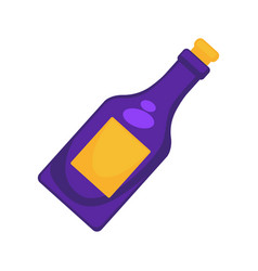 purple colored bottle vector image vector image