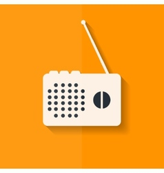 Radio web icon Flat design vector image vector image