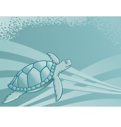 sea turtle background vector image vector image