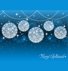 seamless background with christmas ornaments vector image vector image