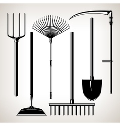 Set of Agricultural Tools vector image vector image