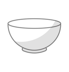 Shadow bowl graphic design vector
