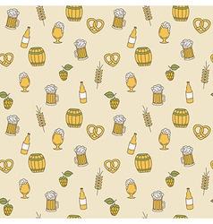 Simple beer seamless pattern doodle design vector