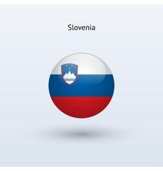 Slovenia round flag vector image