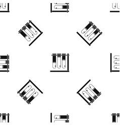three beakers pattern seamless black vector image