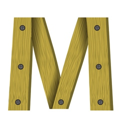 wood letter M vector image vector image