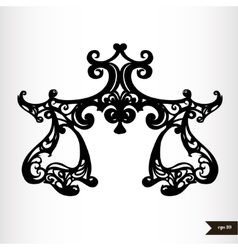 Zodiac signs black and white - libra vector