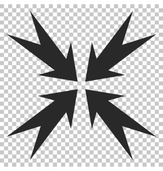 Compression arrows icon vector
