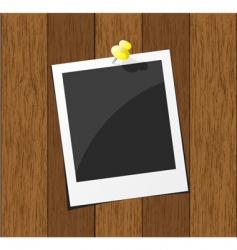 wood photo board vector image