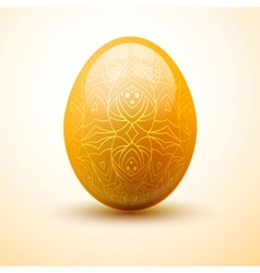 Egg with pattern easter and spring concept vector