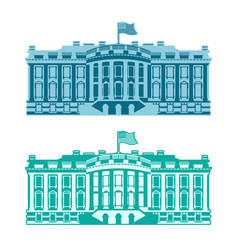 White house america residence of president usa us vector