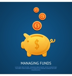 Piggy bank poster vector