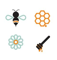 Honeybee and supplies vector