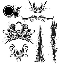 Black icon images for design vector