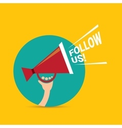 Follow us banner follow us concept vector
