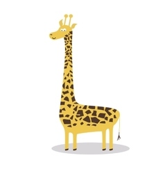 Happy cartoon giraffe vector