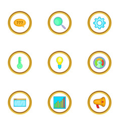 Boost app icons set cartoon style vector