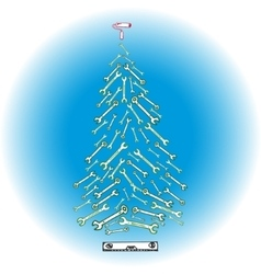 Christmas tree tools vector image vector image