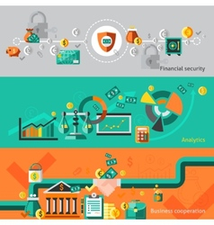 Finance banner set vector