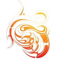 Fire flame tattoo as graphic design element vector