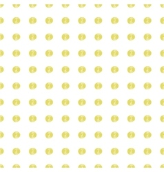 Gold painted marker dots seamless pattern vector