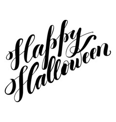 halloween hand drawn lettering vector image