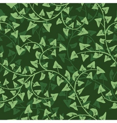 ivy seamless vector repeat pattern vector image vector image