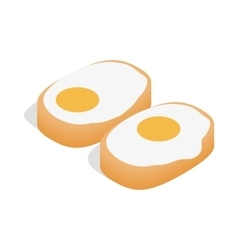 Korean dish with eggs icon isometric 3d style vector