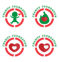 logo charity foundation vector image vector image