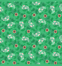 paisley green mesh pattern seamless vector image