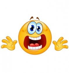Panic emoticon vector