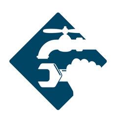plumbing service symbol vector image vector image