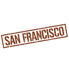 San francisco brown square stamp vector
