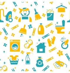 Seamless cleaning pattern vector image vector image