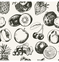 Seamless Pattern Fruits - modern hand drawn vector image vector image