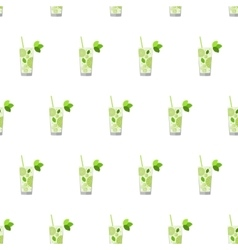 Seamless pattern with cocktails mojito vector