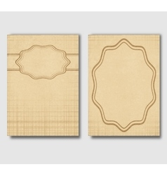 Set of vintage cards invitations or banners vector