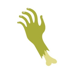 Severed zombie hand vector