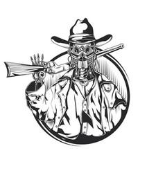 Sketch robot cowbow vector