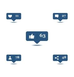 Social media hover vector