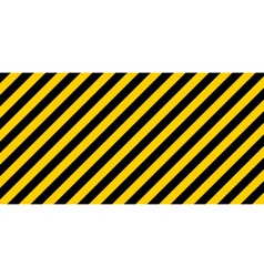 warning striped rectangular background vector image