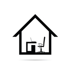 Work from home office vector
