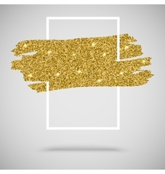 Gold sparkles glitter background with frame vector image