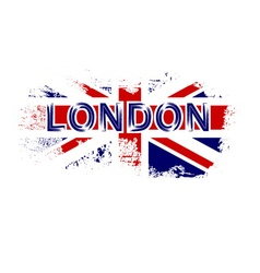 British flag t shirt vector