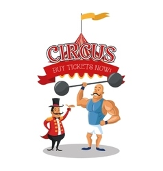 Strength man of circus and carnival design vector